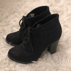 🆕 Black Suede Tie up Booties